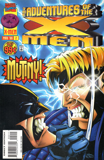 Cover for The Adventures of the X-Men (Marvel, 1996 series) #2