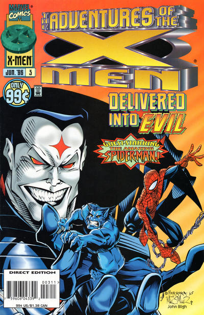 Cover for The Adventures of the X-Men (Marvel, 1996 series) #3