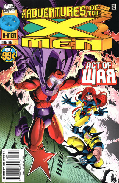 Cover for The Adventures of the X-Men (Marvel, 1996 series) #5