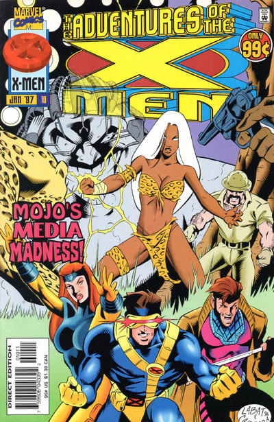 Cover for The Adventures of the X-Men (Marvel, 1996 series) #10