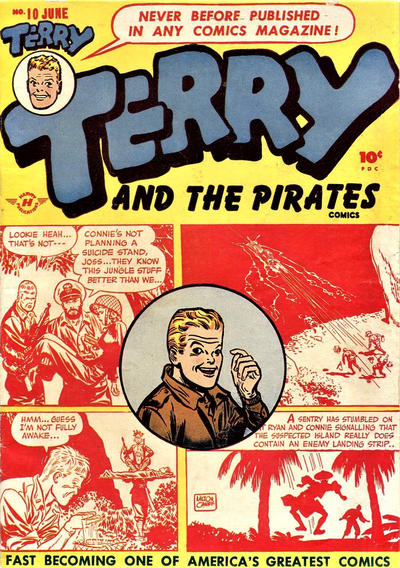 Cover for Terry and the Pirates Comics (Harvey, 1947 series) #10