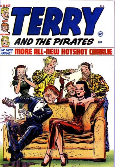 Cover for Terry and the Pirates Comics (Harvey, 1947 series) #18