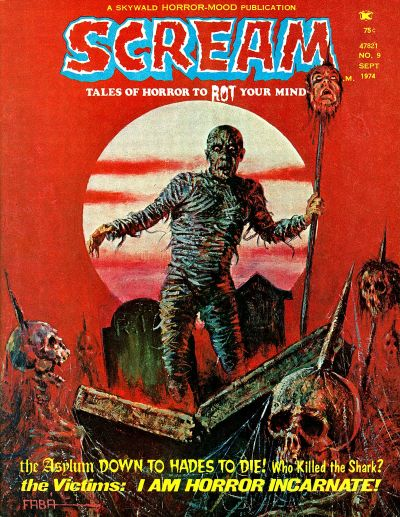 Cover for Scream (Skywald, 1973 series) #9