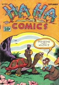 Cover Thumbnail for Ha Ha Comics (American Comics Group, 1943 series) #22