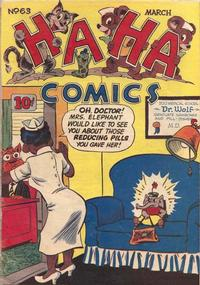 Cover Thumbnail for Ha Ha Comics (American Comics Group, 1943 series) #63