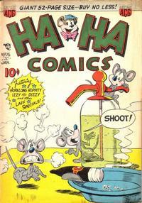 Cover Thumbnail for Ha Ha Comics (American Comics Group, 1943 series) #75