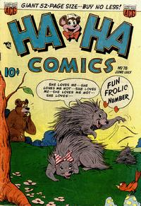 Cover Thumbnail for Ha Ha Comics (American Comics Group, 1943 series) #78