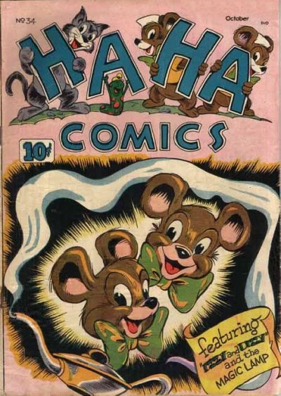 Cover for Ha Ha Comics (American Comics Group, 1943 series) #34