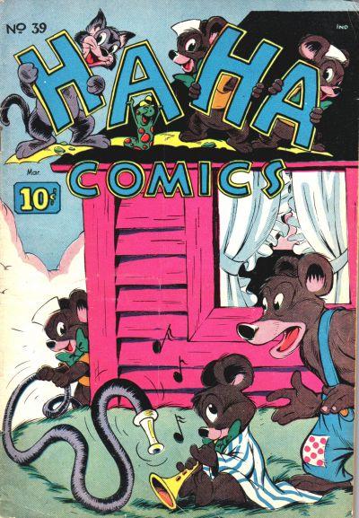 Cover for Ha Ha Comics (American Comics Group, 1943 series) #39