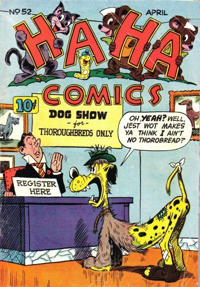 Cover for Ha Ha Comics (American Comics Group, 1943 series) #52