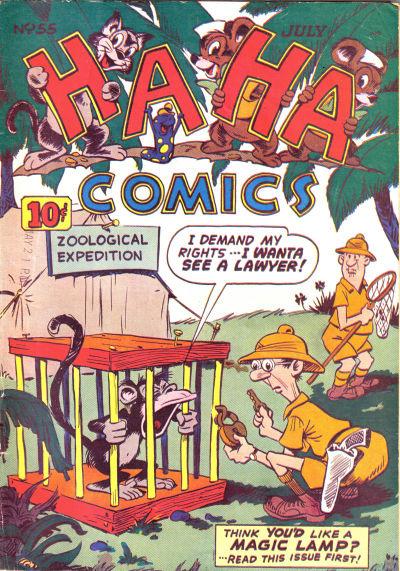 Cover for Ha Ha Comics (American Comics Group, 1943 series) #55
