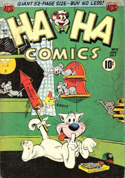 Cover for Ha Ha Comics (American Comics Group, 1943 series) #72