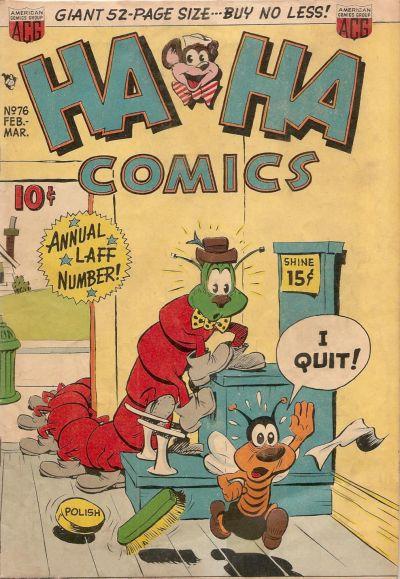 Cover for Ha Ha Comics (American Comics Group, 1943 series) #76