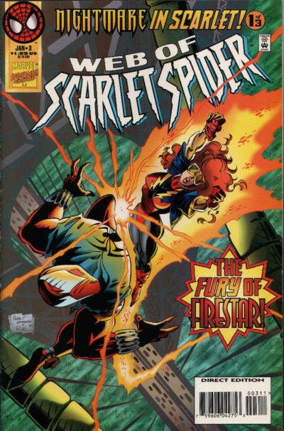 Cover for Web of Scarlet Spider (Marvel, 1995 series) #3