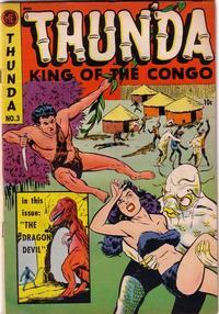Cover Thumbnail for Thun'da, King of the Congo (Magazine Enterprises, 1952 series) #3