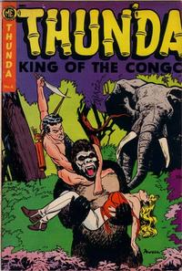 Cover Thumbnail for Thun'da, King of the Congo (Magazine Enterprises, 1952 series) #4