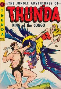 Cover Thumbnail for Thun'da, King of the Congo (Magazine Enterprises, 1952 series) #5