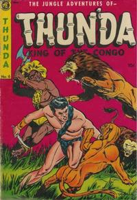 Cover Thumbnail for Thun'da, King of the Congo (Magazine Enterprises, 1952 series) #6