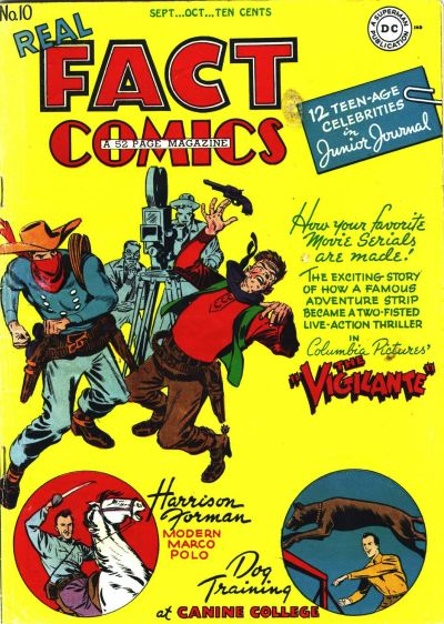 Cover for Real Fact Comics (DC, 1946 series) #10