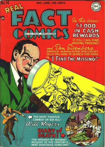 Cover for Real Fact Comics (DC, 1946 series) #14