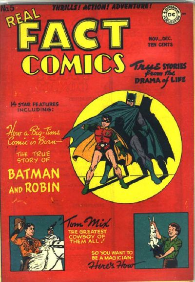 Cover for Real Fact Comics (DC, 1946 series) #5