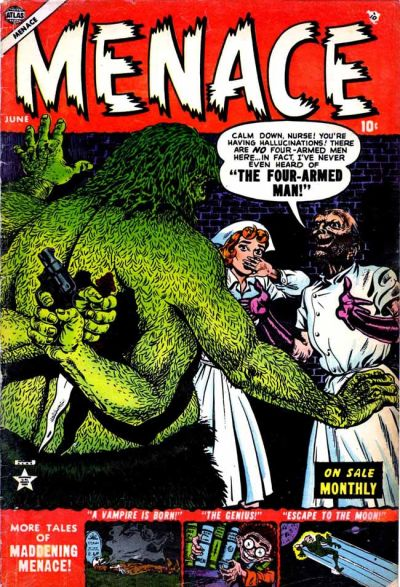 Cover for Menace (Marvel, 1953 series) #4