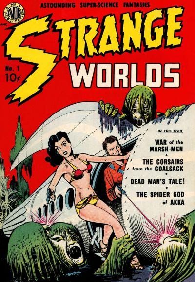 Cover for Strange Worlds (Avon, 1950 series) #1
