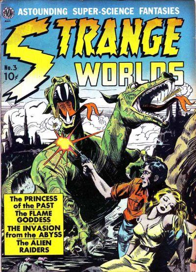 Cover for Strange Worlds (Avon, 1950 series) #3