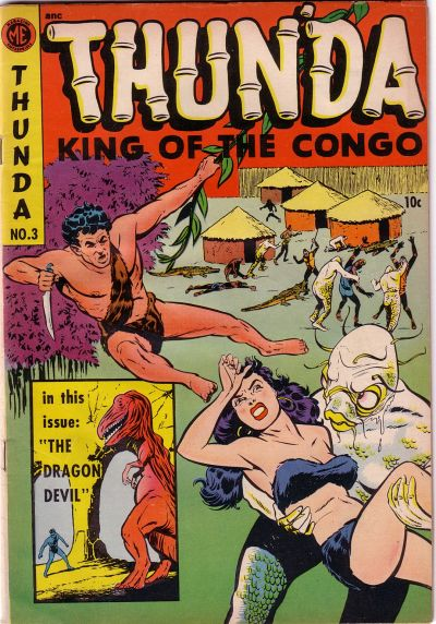 Cover for Thun'da, King of the Congo (Magazine Enterprises, 1952 series) #3