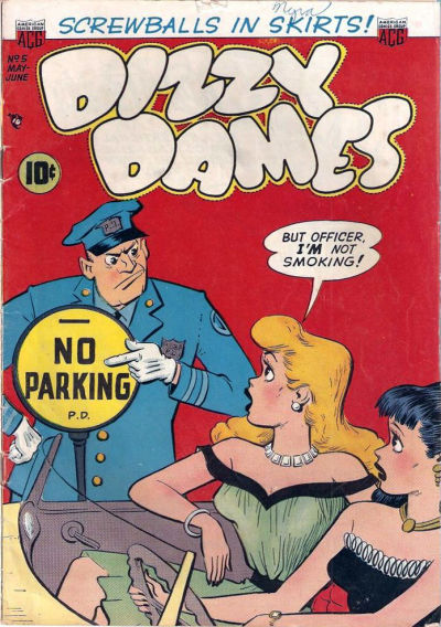 Cover for Dizzy Dames (American Comics Group, 1952 series) #5