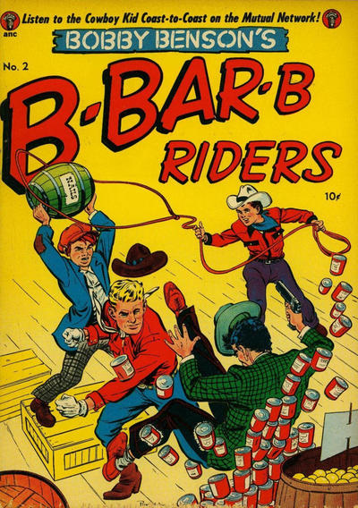 Cover for Bobby Benson's B-Bar-B Riders (Magazine Enterprises, 1950 series) #2