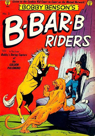 Cover for Bobby Benson's B-Bar-B Riders (Magazine Enterprises, 1950 series) #3