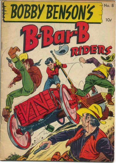 Cover for Bobby Benson's B-Bar-B Riders (Magazine Enterprises, 1950 series) #8