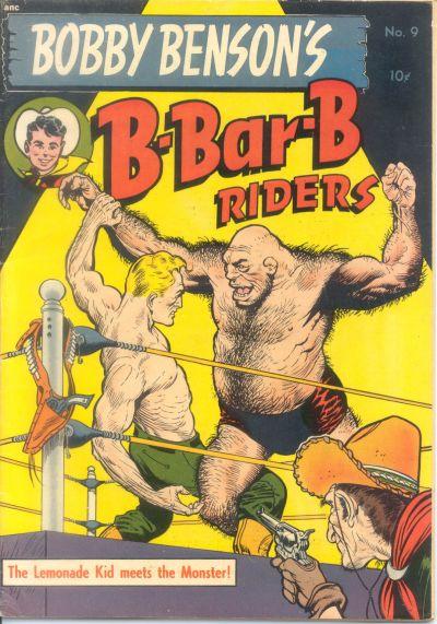 Cover for Bobby Benson's B-Bar-B Riders (Magazine Enterprises, 1950 series) #9