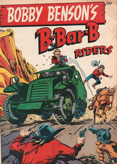 Cover for Bobby Benson's B-Bar-B Riders (Magazine Enterprises, 1950 series) #10