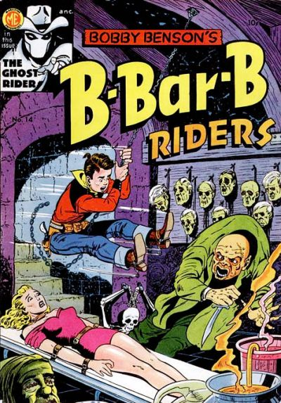 Cover for Bobby Benson's B-Bar-B Riders (Magazine Enterprises, 1950 series) #14