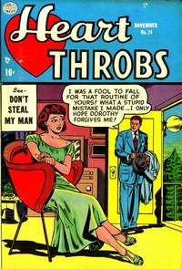 Cover Thumbnail for Heart Throbs (Quality Comics, 1949 series) #24