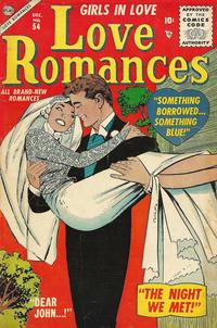 Cover for Love Romances (Marvel, 1949 series) #54