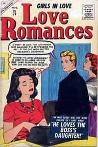Cover Thumbnail for Love Romances (Marvel, 1949 series) #72