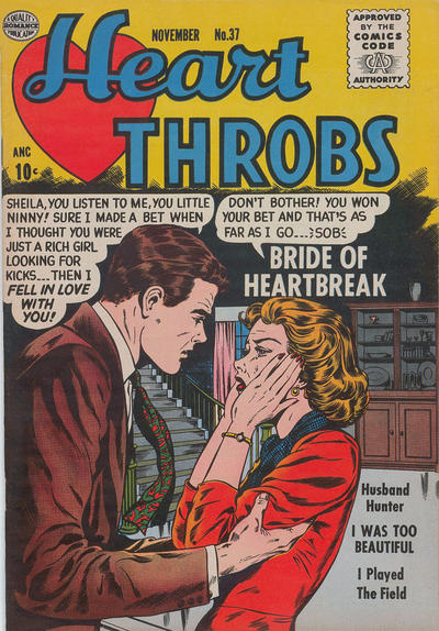 Cover for Heart Throbs (Quality Comics, 1949 series) #37