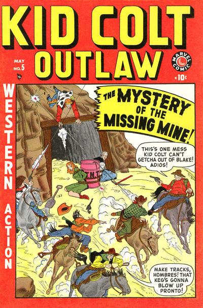 Cover for Kid Colt Outlaw (Marvel, 1949 series) #5