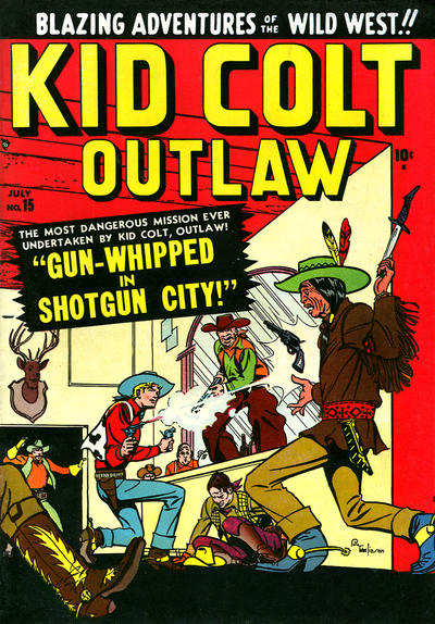 Cover for Kid Colt Outlaw (Marvel, 1949 series) #15