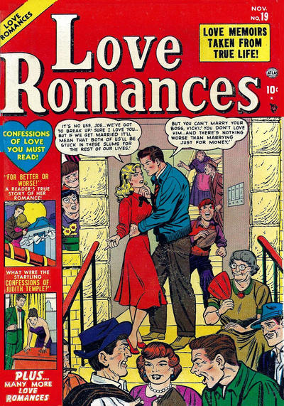 Cover for Love Romances (Marvel, 1949 series) #19