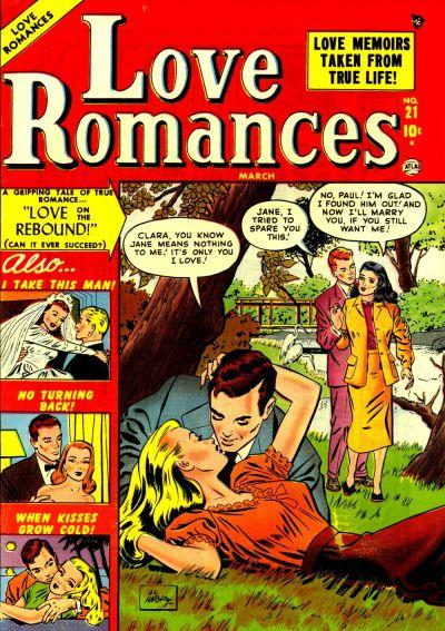 Cover for Love Romances (Marvel, 1949 series) #21