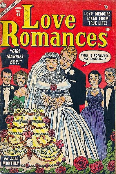 Cover for Love Romances (Marvel, 1949 series) #42
