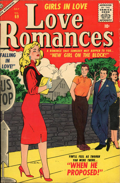 Cover for Love Romances (Marvel, 1949 series) #69