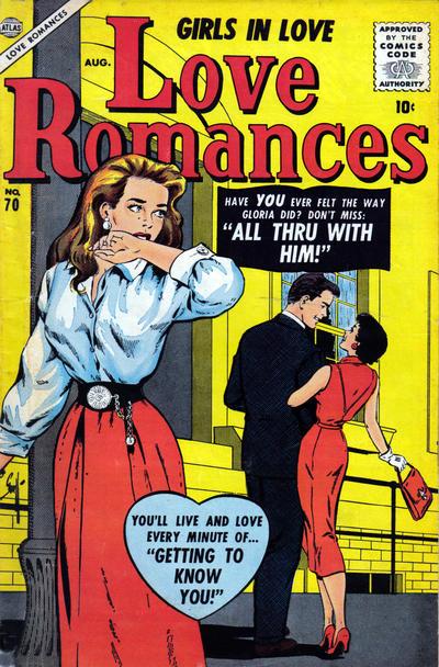 Cover for Love Romances (Marvel, 1949 series) #70