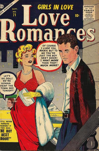Cover for Love Romances (Marvel, 1949 series) #71