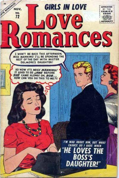 Cover for Love Romances (Marvel, 1949 series) #72