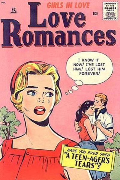 Cover for Love Romances (Marvel, 1949 series) #92
